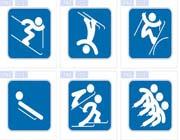 奥林匹克象形运动体育图标素材