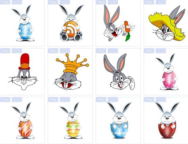 可爱的卡通夸张形象加上胡萝卜彩蛋皇冠帽子等等元素