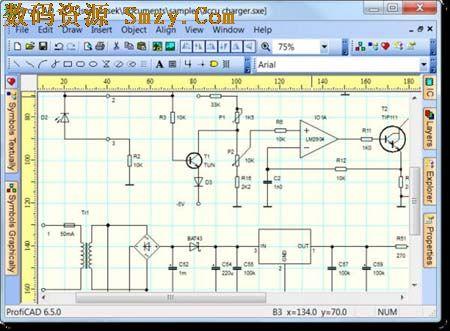 proficad (cad电气原理图形工具)