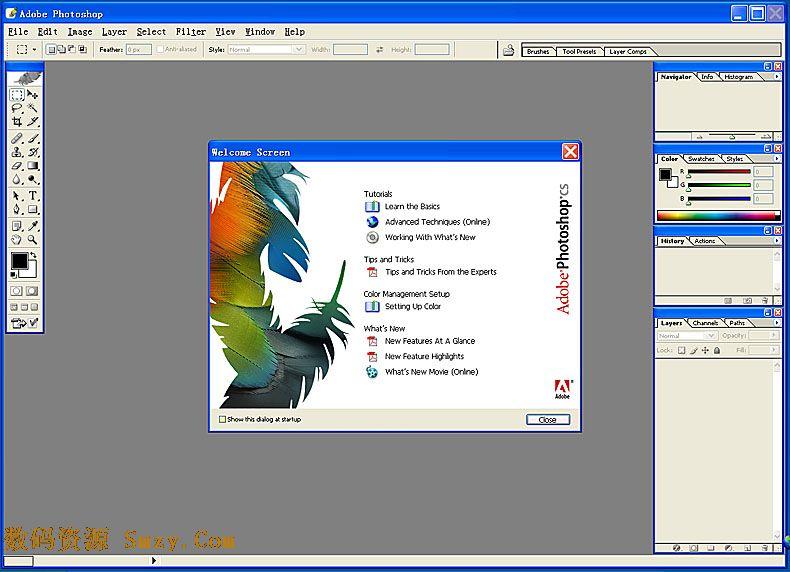 Adobe Photoshop CS 8.0下载简体中文免费版 ps 8.0 制图软件