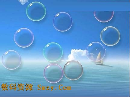 七彩肥皂泡泡屏保 (电脑桌面屏保)
