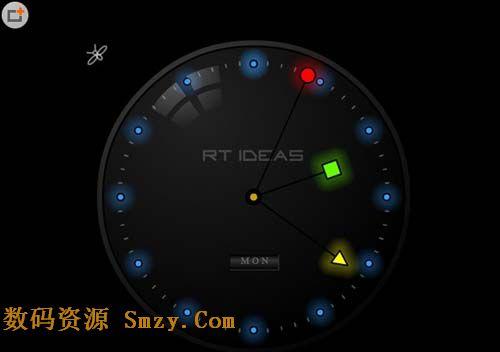 夜光时钟屏保下载 屏幕保护程序 v1.1 免费版 将鼠标指针变成萤火虫