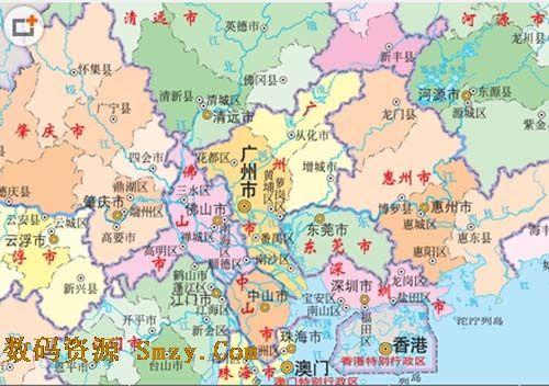 广东地图全图高清版(广东省电子地图) 最新免费版