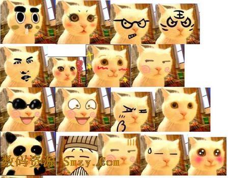 主人公猫咪将害羞,呆萌,傻笑,经验,尴尬,抓狂,猥琐等表情展现的淋漓图片