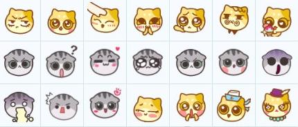 木木猫和表情猫圆脸表情下载(QQ桩桩)最形容人多的搞笑图片图片
