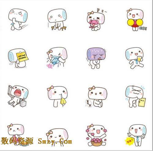 呆萌小动态QQ表情下载(QQ表情香肠)免费哭可爱的被吓表情包图片