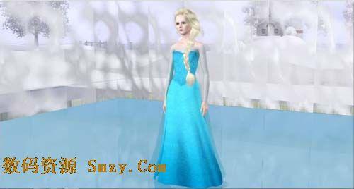 模拟人生4幼儿平菇冰雪Elsa主角MOD下载(模服装好处吃的奇缘图片