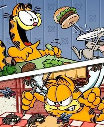 3,解锁多达 30 种以上的料理做法,让可爱的加菲猫可以藉此来大饱口福