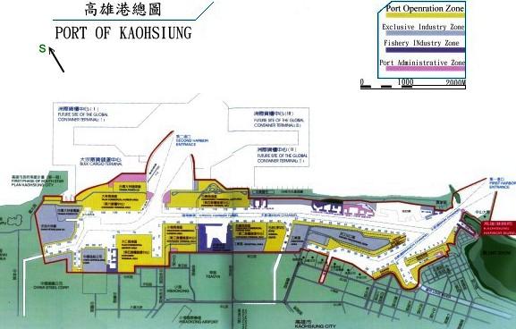 高雄港渔人码头旅游地图路线模板 2016最新版
