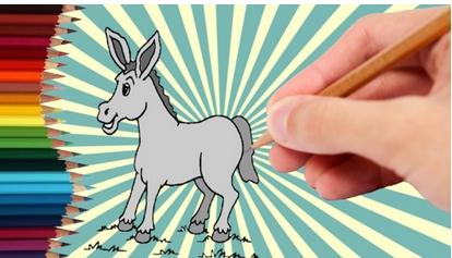 快乐农场儿童画动物篇