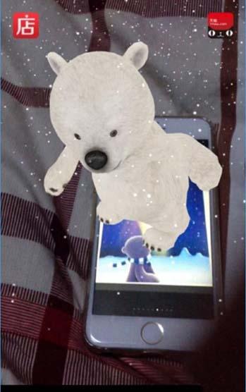 3,用户只需准备至少一部苹果手机加一部智能机,用其中一手机保存小熊