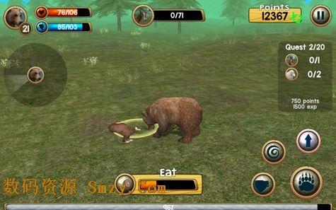 野熊模拟器安卓版 (手机模拟动物游戏)