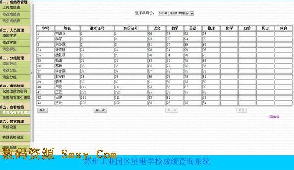 学生成绩表的系统结构图