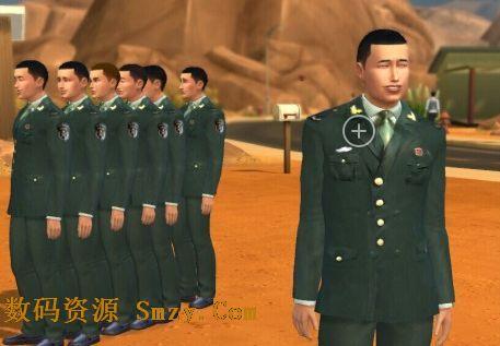 模拟人生4解放军07式陆军常服MOD下载 模拟人生4服装补丁 免费版