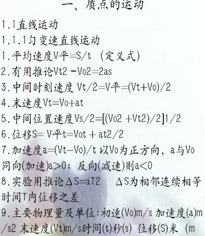 高中物理公式appv1.0 正式版