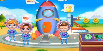 你是否很羡慕宇航员可以飞上宇宙太空呢?你是不是很佩服他们的勇气呢?想知道太空有什么吗?快来这个游戏和小朋友探索一下太空的奥秘吧!  在游戏里,你会和小伙伴们穿好宇航服,坐上火箭登上各个星球。你可以体验太空失重的感觉,也了解太空人日常生活,在茫茫宇宙中探索各种星球,甚至可能发现外星人。