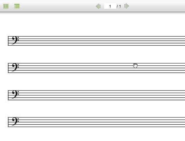 截图为低音谱好版本截图,此空白五线谱打印版为无谱号版本!
