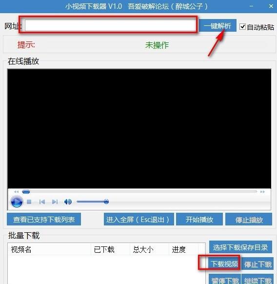 草根吧 【小视频下载器】可以满足网页视频下载的要求 在线视频,视频下载器,软件下载,网页,密码 软件工具 201651110452941986