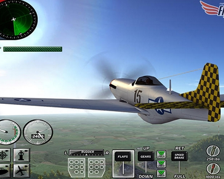 游戏中采用了真实的飞行动力学