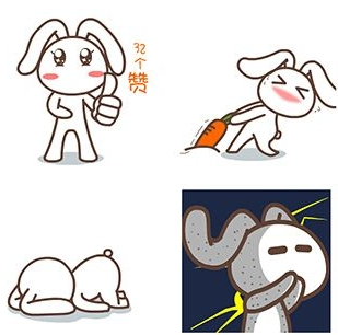 qq 表情 → 默默兔表情包下载