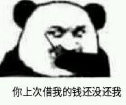 熊猫熊猫呼叫熊猫我是蘑菇头表情包说明: 你上次借我的钱没还我 凭本图片