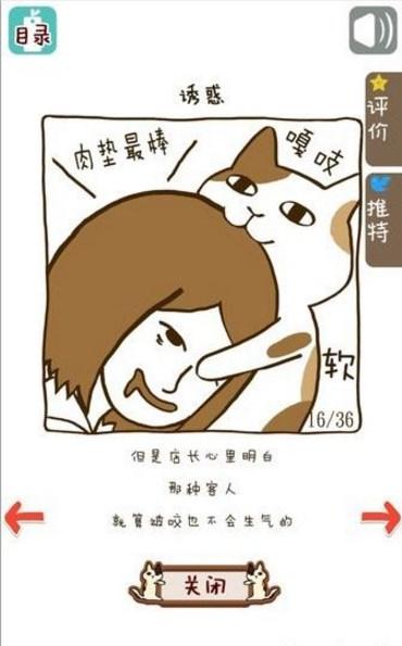 3,帮助傲娇的喵星人招待来咖啡馆的客人以此让猫咪成长,大家需要一定