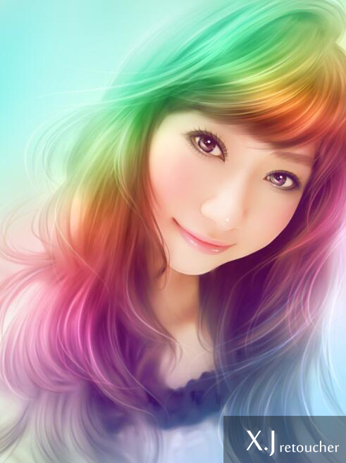 Photoshop打造唯美梦幻仿手绘人像照片效果教程 图7