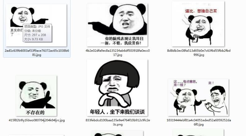熊猫嫌弃表情美团恶搞表情图片