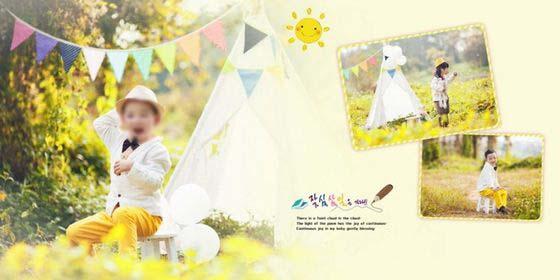 儿童艺术照模板森林公主 09