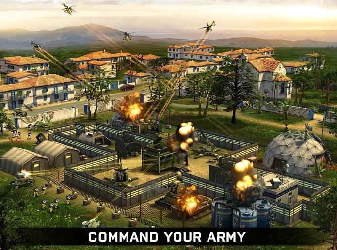 制定战略的最佳方式粉碎你的对手在实时匹配的PvP 命令你的军队:控制他们的移动和方向,并进入隐身或攻击 攻击对手的步兵,地面或空中无人驾驶飞机的有效组合 训练你的军队,创建无与伦比的基地,并收集足够的资源 上电和结构的最佳基地,以保持它的敌人袭击安全 反击快的报复和排名你的单位取得胜利 加强你的力量与精确的炸弹袭击和其他类型的空中支援突袭 与朋友结成联盟,爬上梯子联赛和一些甜蜜的资源作为耙获胜奖励 体验不同的游戏模式:单人战役,PVP或派系斗争