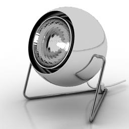 银色圆形台灯模型下载