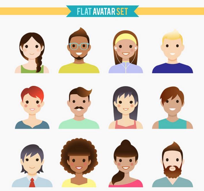 在拍证件照的时候,我们会拍个半身照。在这款可爱卡通人物头像矢量素材中,有12款不同类型和性别的人物头像,每个头像都在做着微笑的表情,头型和服饰颜色的搭配显得格外有趣,整体感觉萌萌哒!详情还请见jpg缩略图,喜欢的小伙伴收藏下载吧!
