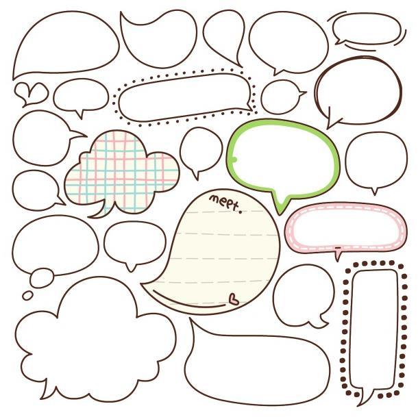 简约气泡对话框psd分层素材