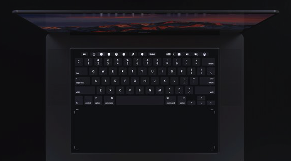 这款MacBook Pro 2018最大的特点在于键盘方面的改动。首先,键盘将由Taptic Engine提供震动反馈,取消了传统的键程。 其次,键盘区域可以通过手势变为一整块触控面板,同时还可以为用户提供快捷键和功能键。