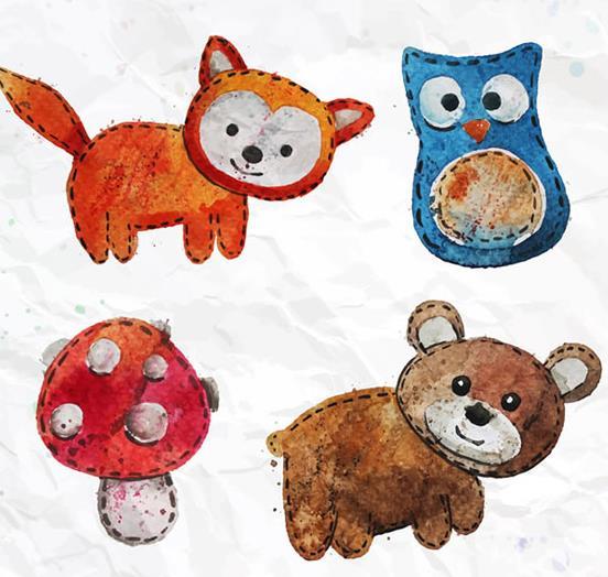 可爱的小动物,调皮可爱的小狐狸,还有大眼睛的猫头鹰,萌萌哒小棕熊,都