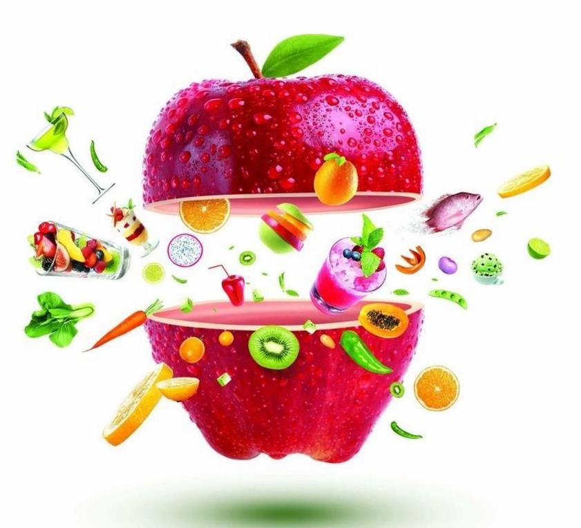 新鲜水果创意海报psd素材