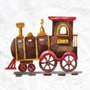 水彩火车头玩具矢量图片素材