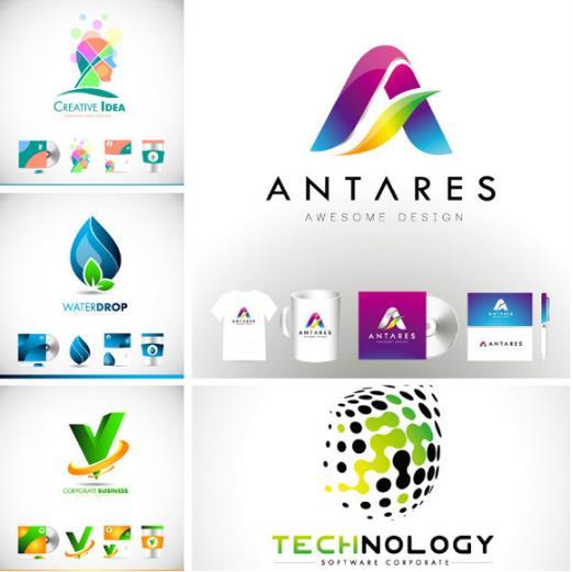 简洁创新logo图形矢量图片素材