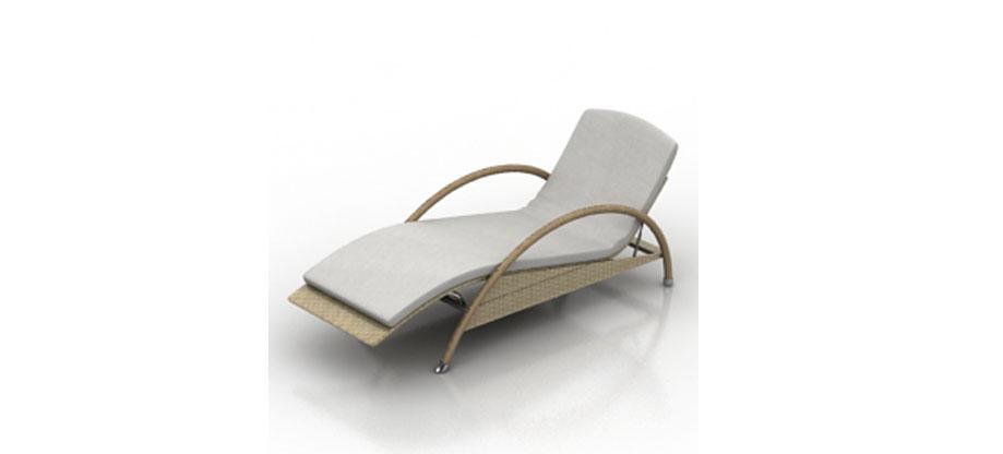 免费3d躺椅模型下载