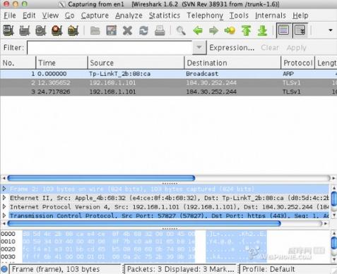 Wireshark Mac版截图
