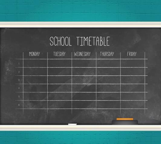 黑板课程表学习用品矢量素材