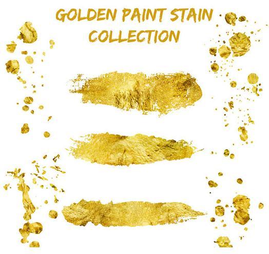 金色墨迹印记矢量素材
