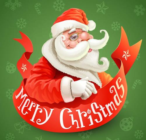 还带上了一副小眼睛哦,长长的胡须往上翘看着非常滑稽的,圣诞老人是以