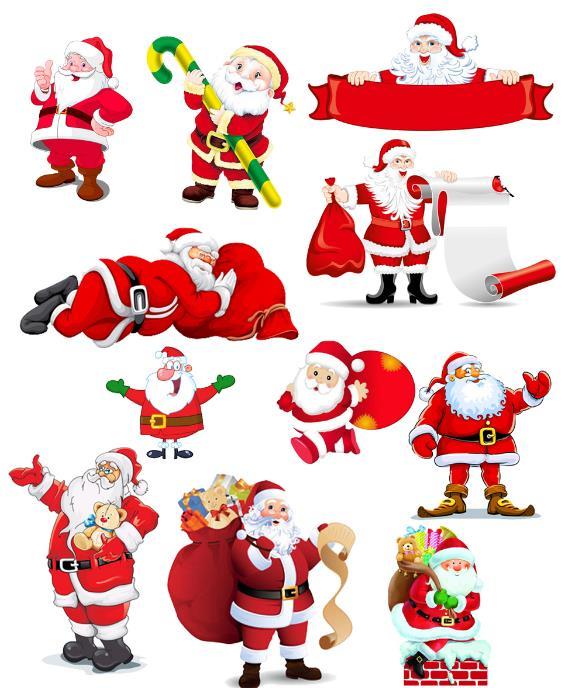 人物 > 卡通圣诞老人psd素材下载  传说,如果在圣诞节的前一天将袜子