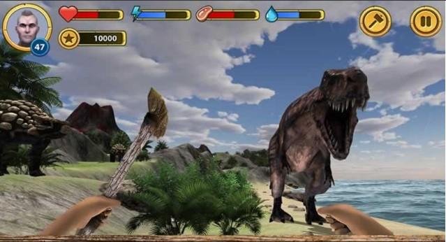 玩恐龙岛生存安卓版(Volcano Island)可比看降妖别动队抢夺了,正所谓刺激不刺激,台面上遛一遛,一个人在荒岛生存还要躲避恐龙的袭击,有可能的话还要自己亲自猎杀恐龙,这可不是一般人可以做到的事情呢,恐龙岛生存安卓版就是这么一款生存类手机游戏呢。
