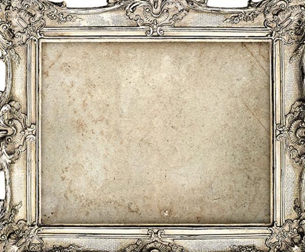欧式银色雕花画框高清素材图片