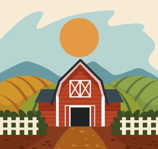 首页 资源下载 平面素材 矢量素材 风景 > 多彩农场庄园风景矢量图