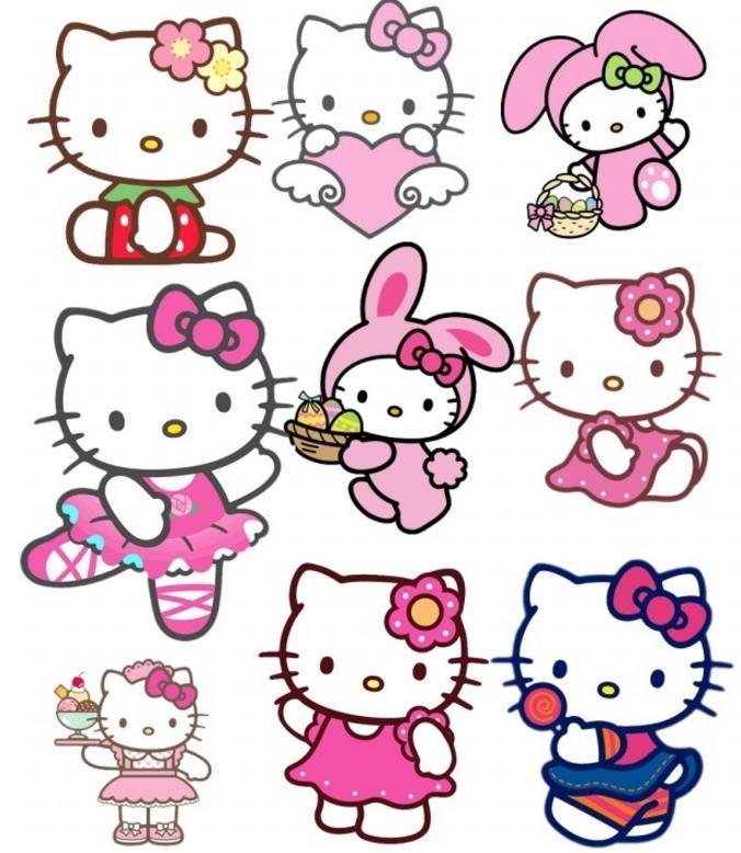 有这样一个小猫,没有嘴巴,脸蛋圆圆的,左耳朵上有一个蝴蝶结,还有一截小尾巴,她的名字就是hellokitty,日本著名的卡通人物。这款hellokitty可爱贴纸psd素材中有9款贴纸,每款的穿着、配饰和动作都不相同,萌萌的凯蒂猫简直让人感觉少女心爆棚。非常可爱哦!喜欢就快快下载吧!