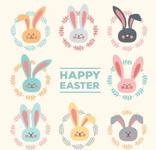 卡通可爱兔子头像设计ai格式