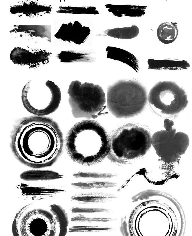 中国风建立在中国传统的文化基础上,蕴含大量中国元素并适应全球流行趋势的艺术形式。这款中国风水墨笔触psd素材有多款水墨笔触,可以用在不同的设计中,书法是中国传统的艺术发展五千年来最具有经典标志的符号,书法的书写离不开毛笔,相信这么多中国风特色书法毛笔笔触会为你的设计增加亮点!